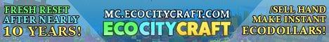 EcoCityCraft Minecraft Economy Server